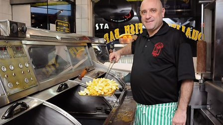 Tony Harmanda of Quality Fish Bar in Seven Sisters Road, Finsbury Park. Picture: Dieter Perry