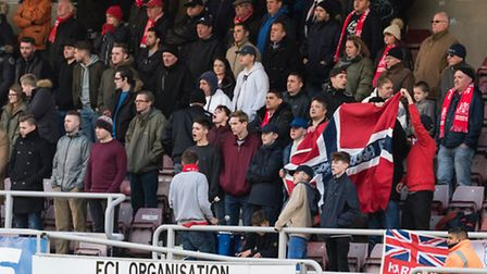 Harrow Borough fans were in good voice throughout their FA Cup defeat at Northampton last Saturday.