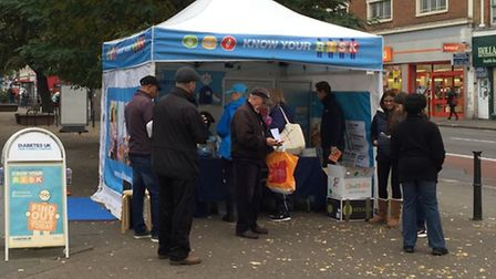 The Know Your Risk Roadshow stopped in Kilburn to raise awareness of Type 2 diabetes