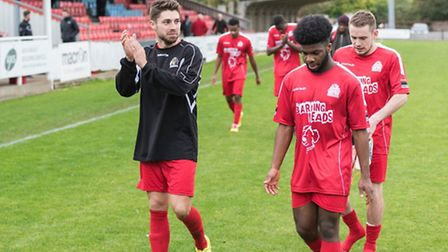 Lewis Driver (left) is relishing Harrow Borough's FA Cup tie at Northampton Town this weekend. (Pic: