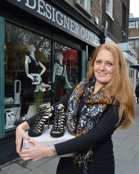 Eve Francis, owner of Eves Designer Outlet in Islington Green. Picture: Polly Hancock