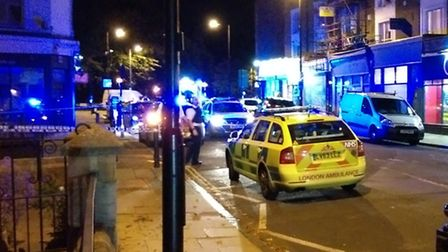 The scene following the first King Henry's Walk stabbing two weeks ago