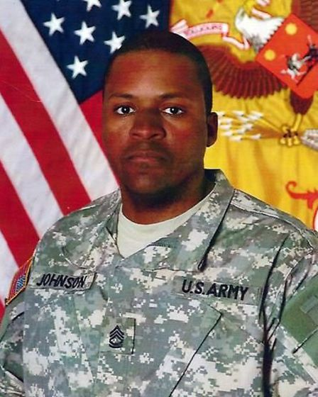 Sergeant First Class Randy Johnson was killed by a bimd (Pic credit: Central News)