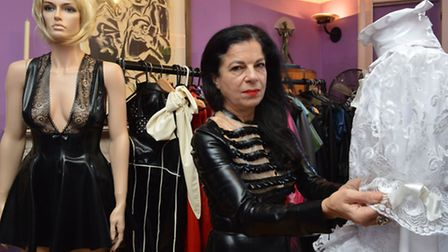 Krystina Kitsis with some of her designs. Picture: Polly Hancock