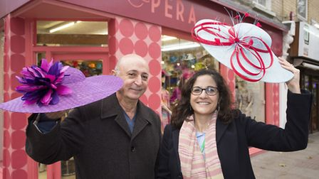 Vava Mouhtari, owner of Opera in Fonthill Road, and Cllr Asima Shaikh celebrate the new shop front.