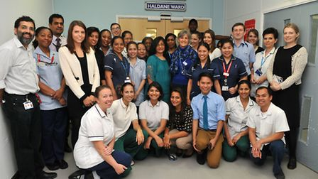 The stroke team at Northwick Park Hospital where stroke services rated best in the country