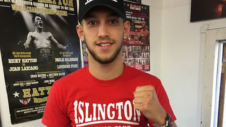 Islington BC's Mason Smith with his England Boxing Southern Area belt