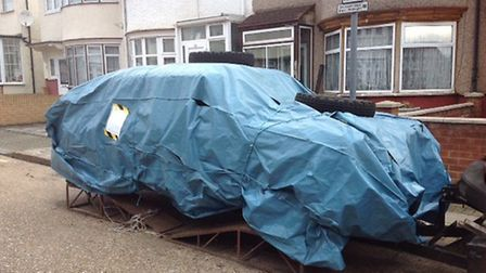 Hanif's cars and trailers had been stored on the street illegally (Pic: Brent Council)