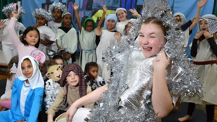 The Key Stage 2 Christmas production of Superstar at St Mary's Primary School in Islington.