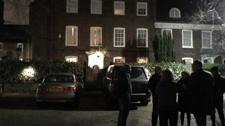 Fans have started gathering outisde George Michael's Highgate home, in The Grove..