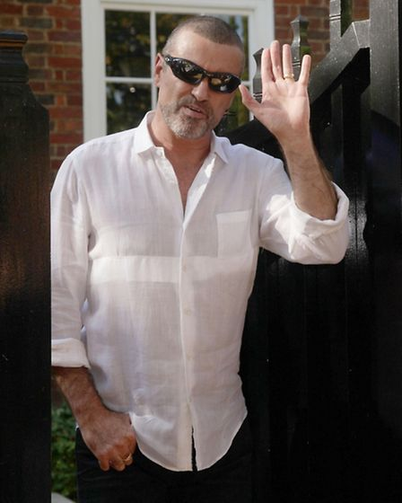 George Michael outside his house in Highgate in 2010 .Photo: Yui Mok/PA Wire