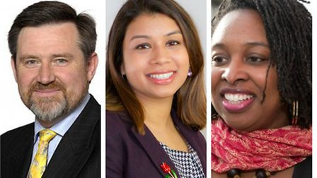 Left to right: Barry Gardiner, Tulip Siddiq and Dawn Butler