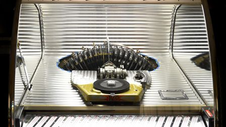 A Rock-Ola model 1448 from 1955 at Jukebox London in Colebrook Row, Islington. Picture: Polly Hancoc