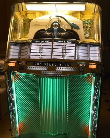 A Wurlitzer model 2000 from 1956 in the showroom. Picture: Polly Hancock