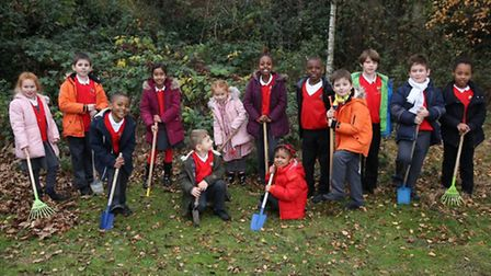 Pupils from Wembley Primary School