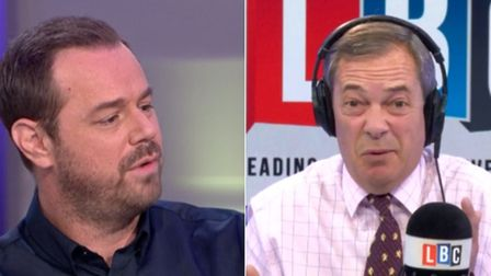Nigel Farage has invited Danny Dyer on to his radio show (Photograph: ITV/LBC)