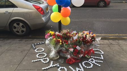Tributes have been left at the scene (Pic: Nathalie Raffray)