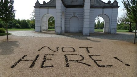 Caledonian Park clock tower protest after Islington Council granted planning permission for the cent