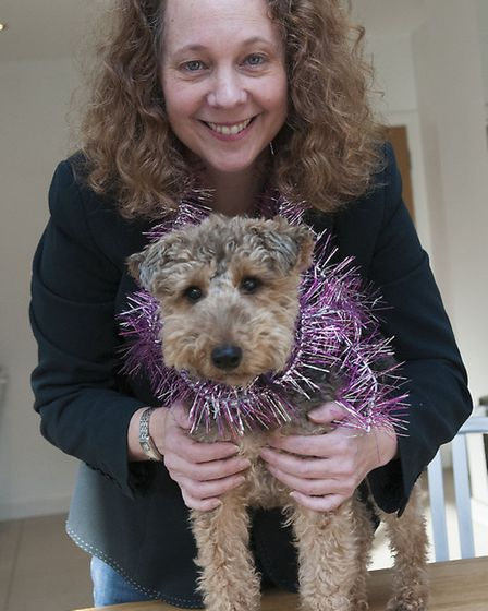London Met lecturer Wendy Sloane, pictured with Welsh Terrier Molly. Picture: Nigel Sutton
