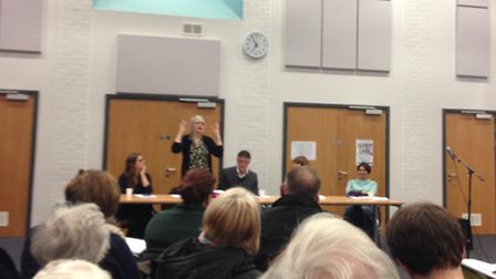 A meeting was held at Highbury Fields School last night to discuss plans to turn Ladbroke House into
