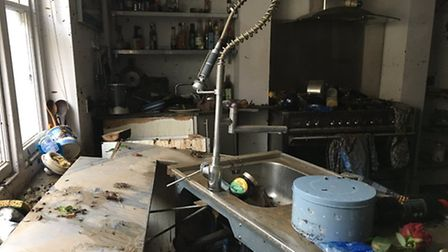 Stuart's kitchen was well and truly ruined by the flood. Picture: @Stuart_Rock