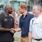 On his royal visit to Grenada Prince Harry (middle) paid a visit to the Jason Roberts Foundation to