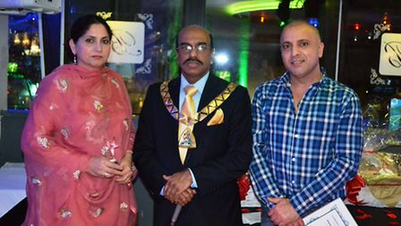 Cllr Parvez Ahmed with Mohammed and Misba Hussain