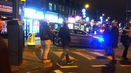 Blackstock Road in Finsbury Park was closed at 4.50pm. Picture: @ParkPharmacyN4