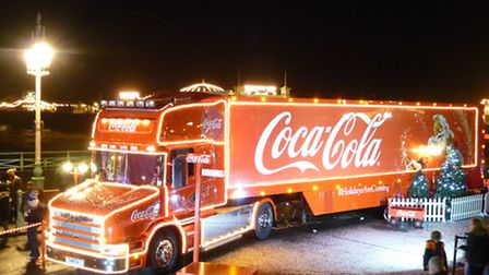 The Coca-Cola Christmas trunk will be in Wembley next week