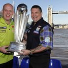 World number one Michael van Gerwen (left) and defending champion Gary Anderson are expected to be a