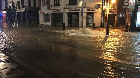 Police warned drivers to avoid Upper Street. Picture: Met Police