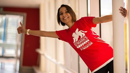 Nancy Fahmy is trying to raise £20,000 for St Mark's Hospital bowel unit
