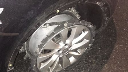 The woman was stopped after officers noticed her 'wheels' (Pic: Twitter@MPSBrent)