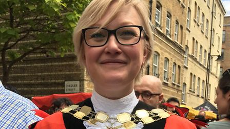 Mayor of Islington Cllr Kat Fletcher, pictured at the Whitecross Street Party. Picture: Matt Kelly