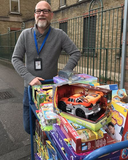 Islington Toy Project delivers 80 gifts to Islington police. Picture: Met Police