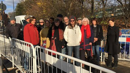 A group of campaigners are fighting TfL's plans for the bus network in Archway. Picture: Jenny Thomp