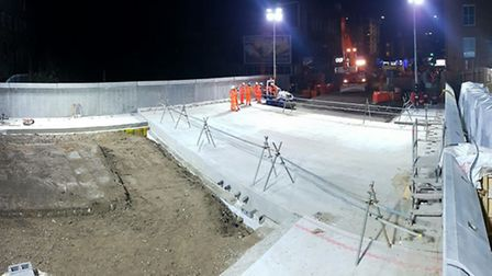 The new Upper Holloway Bridge is under construction. Picture: TfL.