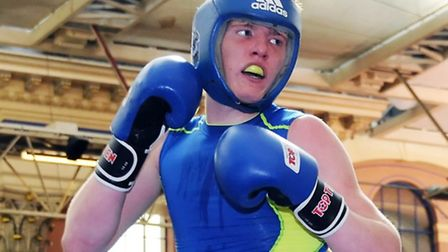 Billy Underwood in action for Lion ABC at the Haringey Box Cup