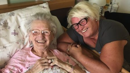 Peggy Liddiard was smiling even in her final days. Picture: Peggy Liddiard family