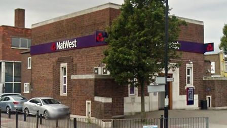 The man was robbed outside NatWest Bank in Park Royal (Pic: Google)