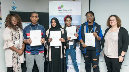 Students at Skills Training UK received achievement awards at the Wembley Centre