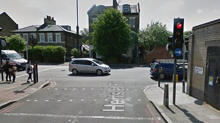 The man was found in Tollington Road's junction with Hertslet Road. Picture: Google Street View