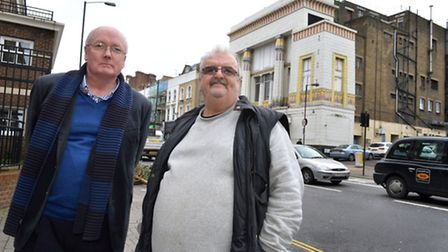 James Murphy, left, and Norman Begbie are leading the opposition of the plans. Picture: Polly Hancoc