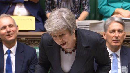 Prime minister Theresa May at PMQs