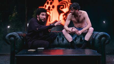 Joel Fry and Tom Bennet in Raising Martha at the Park Theatre. Picture: Darren Bell