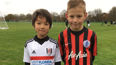 Pro Touch Soccer Academy pair Haru Maitani (left) and Jesse Aldridge (right) have signed for Fulham