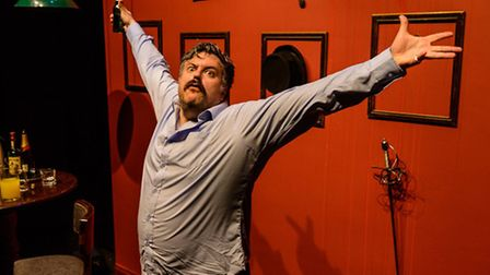 Rob Crouch in Oliver Reed Wild Thing. Picture: Annabel Staff
