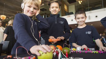 Ashmount Primary School students at an annual computing event held in The Emirates Stadium. Credit: