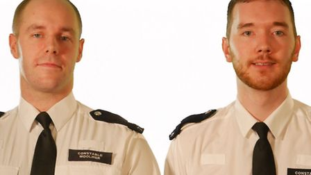 PCs Marc Woolmer and Alex Field of Islington Police. Picture: Met Police