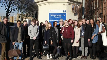 """London South Bank University students before the completion of the """"learning together"""" module in Pen"""
